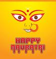 happy navratri festival poster desgin vector image