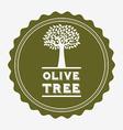 olive tree design vector image