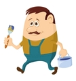 Painter with bucket vector image