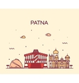 Patna skyline silhouette linear style vector image