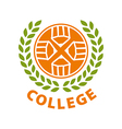 Round abstract logo for college vector image