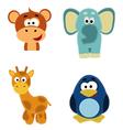set of 4 animals vector image