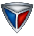 Steel shield with flag czech republic vector image