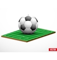 Symbol of a football or soccer game and field vector image