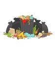 Pile of Decaying Garbage Left Lying Around vector image