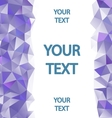 Purple polygons background vector image vector image