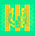abstract icon of good luck vector image