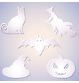 Shadowed Symbol Set for Halloween vector image