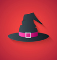 Black Hat of Witch  Funny Halloween Carton with Lo vector image