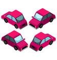 3d design for pink car vector image
