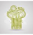 Spring sale design Green stroke code Fresh vector image vector image
