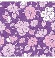 purple kimono florals seamless pattern vector image vector image