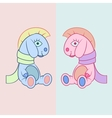 Baby horse toys vector image