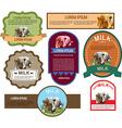 Set of Labels for Milk vector image