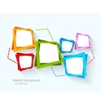 Abstract background with colorful squares vector image