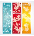 Banners headers abstract lights vector image