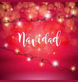 christmas with spanish feliz vector image