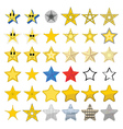 Collection of different stars vector image