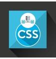 css language data base storage vector image