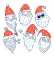 cute santa clauses set vector image
