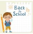 Little schoolboy vector image