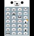 Seal emoji icons vector image