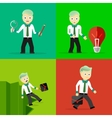 Set of businessman pose character concepts vector image