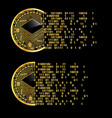 Set of crypto currency stratis golden symbols vector image