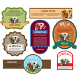 Set of Labels for Milk vector image