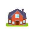 Terracota Family Cottage Suburban House Exterior vector image