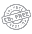 CO2 Free rubber stamp vector image