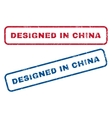 Designed In China Rubber Stamps vector image
