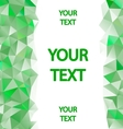 Green polygons background with place for your text vector image