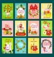 easter greeting card banner poster set design vector image