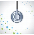 Stethoscope on Medical Background vector image vector image
