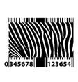 zebra bar code vector image
