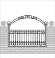Iron fence with bow vector image