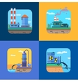 Ecology Concept Icons Set for Environment vector image
