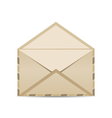 open retro envelope with shadow isolated on white vector image vector image