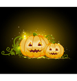 Two terrible pumpkins vector image