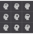 black thoughts icons set vector image