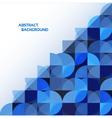 Blue geometrical abstract background eps 10 vector image