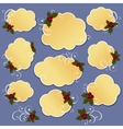 Cute christmas design elements vector image