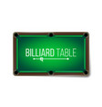 empty billiard table green game snooker vector image