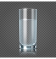 Glass of water isolated on transparent checkered vector image