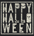 grunge letters with grave bats and pumpkins vector image