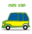 Transportation of mini van vector image