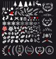 White Christmas design elements vector image