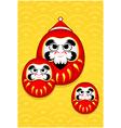 Nengajo New Year card vector image