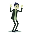 Cute young man in style of Frankenstein monster vector image